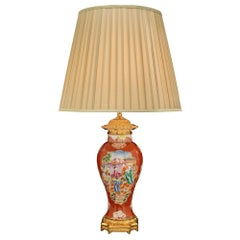 19th Century Asian Export Porcelain Vase Mounted into a Lamp