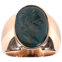 19th Century Bloodstone Intaglio Ring