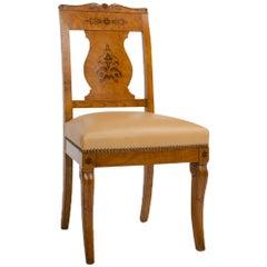 19th Century Burlwood Chair in the Biedermeier Style