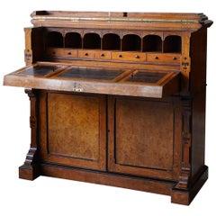 19th Century Burr Oak Secretaire