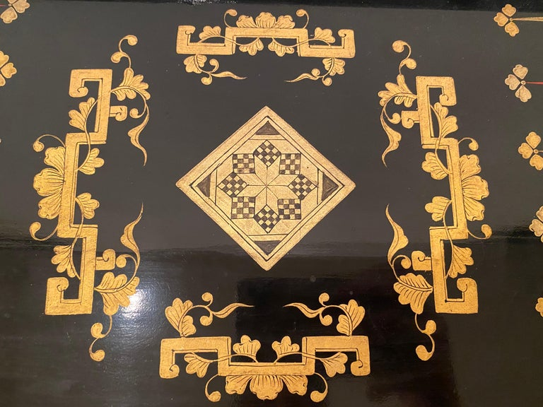 19th Century Chinese Export Lacquer Chess and Backgammon Board For Sale 5