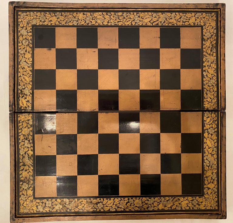 19th Century Chinese Export Lacquer Chess and Backgammon Board For Sale 6