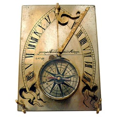 19th Century Compass Sundial, Jacque Linedal, Dieppe France