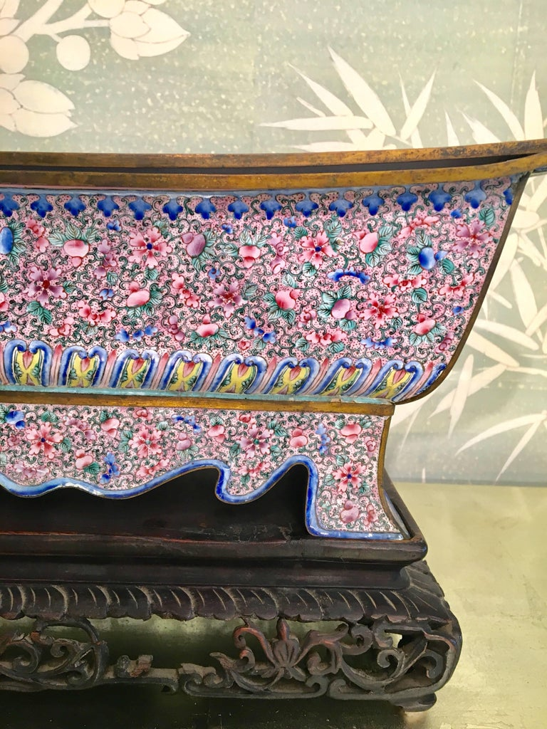 Chinese 19th Century Enamel Brazier For Sale