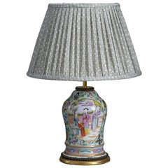 19th Century Famille Rose Vase as a Lamp