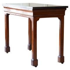 19th Century Faux Porphyry & Mahogany Console Table