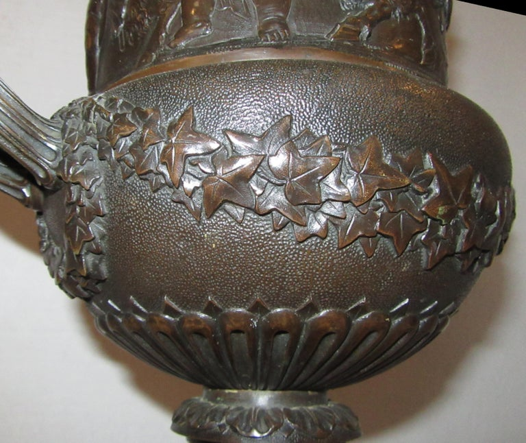 Neoclassical 19th Century French Bronze Urn Stamped