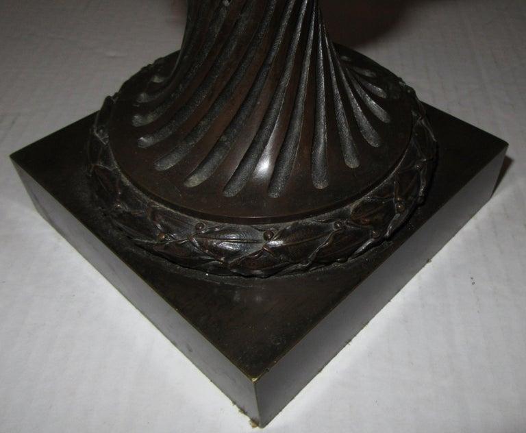 Cast 19th Century French Bronze Urn Stamped