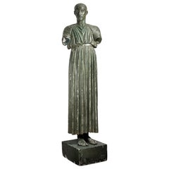 A 19th Century French Cast of the 5th Century BC Greek Charioteer of Delphi