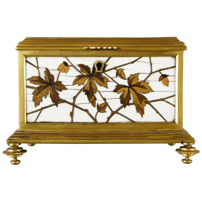 19th Century French Cloisonné Jewellery Box by Maison Alphonse Giroux