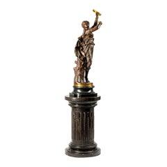 19th Century French Patinated Bronze Figure, The Tambourine Dancer