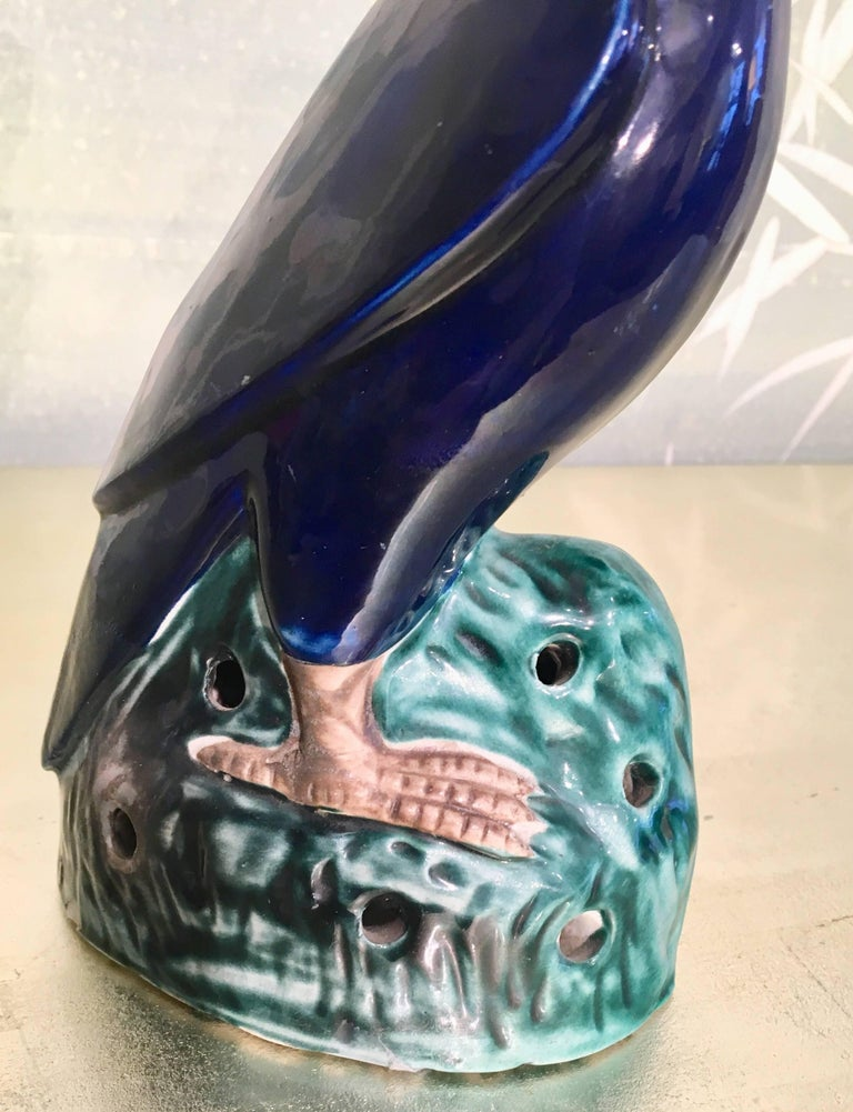 19th Century Glazed Parrot In Good Condition For Sale In New York, NY