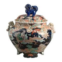 19th Century Imari Porcelain Tureen and Cover