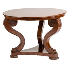 19th Century Irish Empire Mahogany Center Table, circa 1830