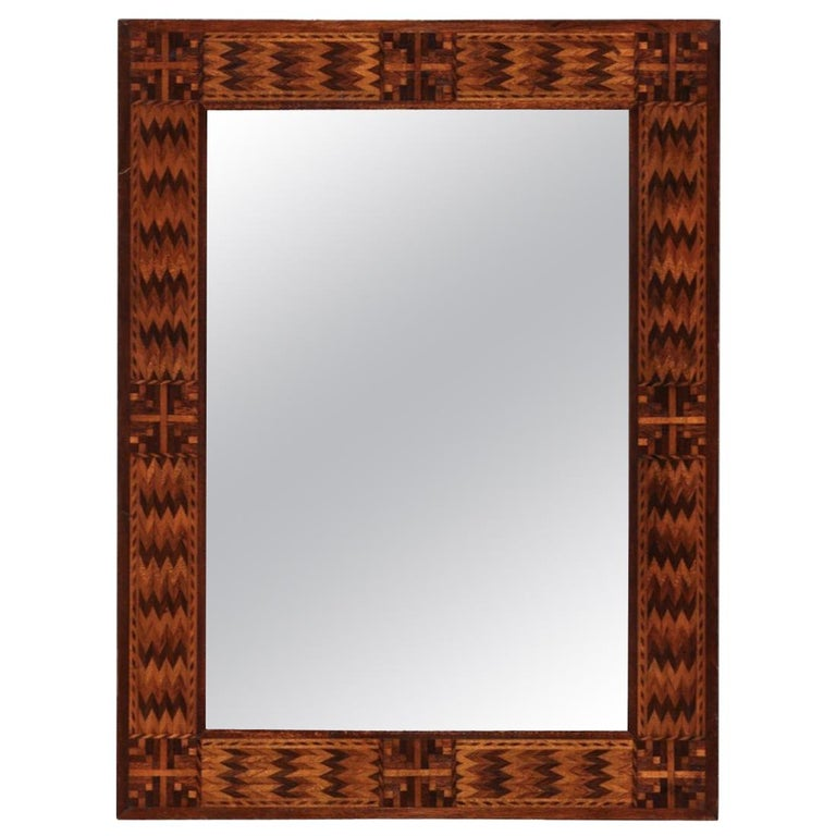 19th Century Marquetry American Mirror For Sale