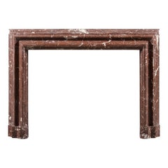 19th Century Rouge Languedoc Marble Bolection Chimneypiece