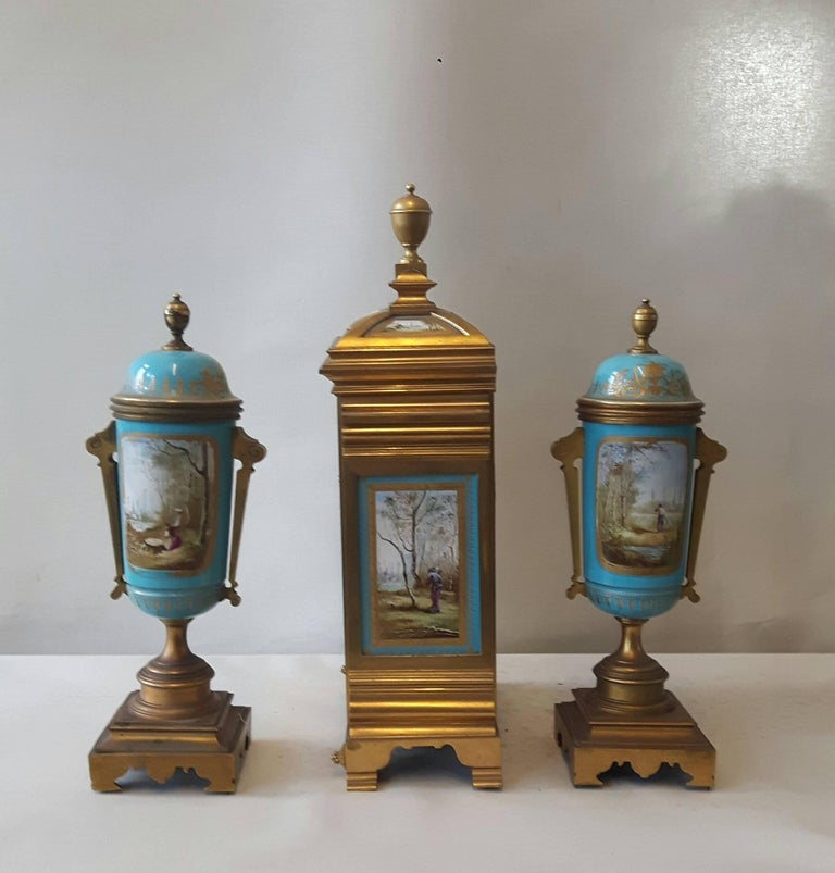 French 19th Century Sevres-Style Garniture For Sale
