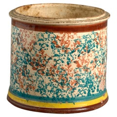 19th Century Sicilian Pottery Planter
