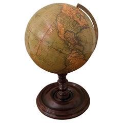 19th Century Terrestrial Table Globe by Newton