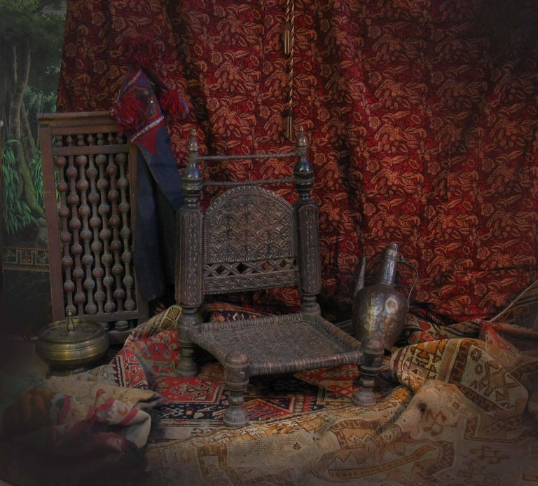 19th Century Traditional Tribal Chair of the Swat Valley, Northern Pakistan For Sale 4