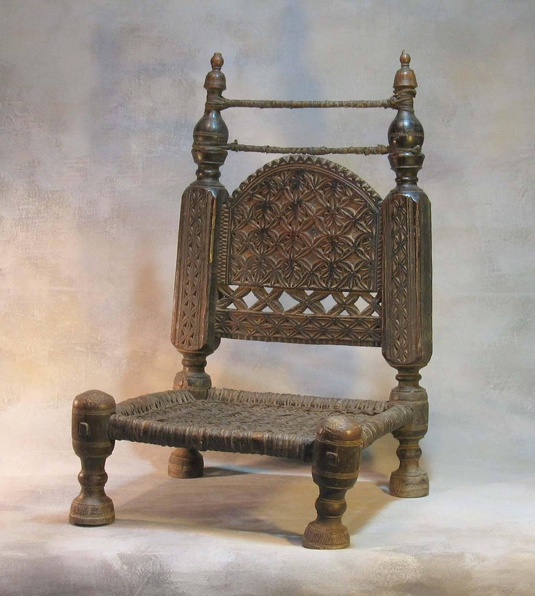 19th Century Traditional Tribal Chair of the Swat Valley, Northern Pakistan For Sale 6