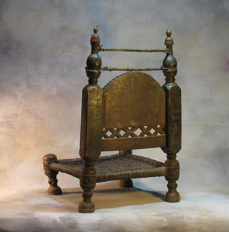 19th Century Traditional Tribal Chair of the Swat Valley, Northern Pakistan In Good Condition For Sale In Ottawa, Ontario