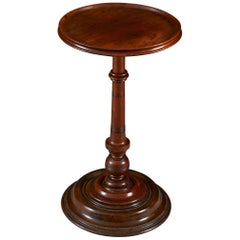 19th Century Turned Walnut Plinth Occasional Table