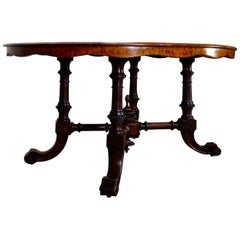 19th Century Walnut Breakfast, Center Table Dining