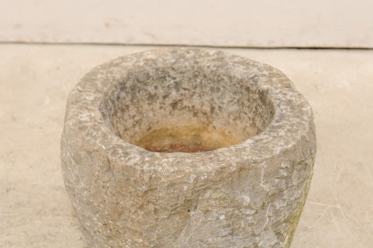 19th Century 19th Spanish Large Carved Stone Bowl or Vessel For Sale