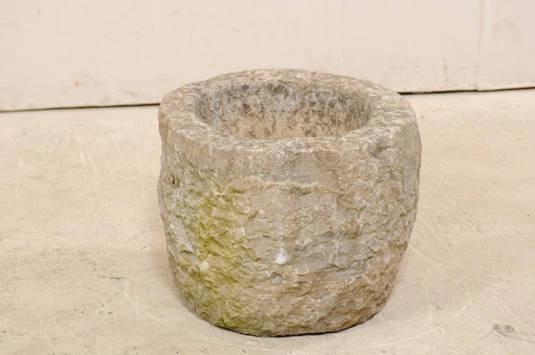 19th Spanish Large Carved Stone Bowl or Vessel For Sale 2