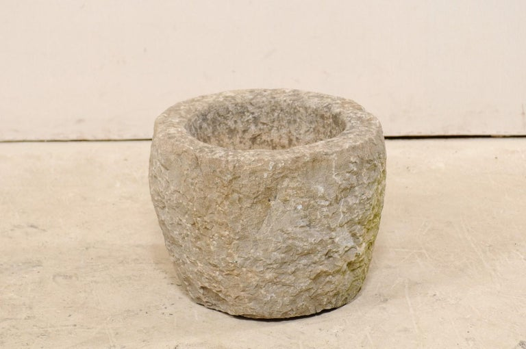 19th Spanish Large Carved Stone Bowl or Vessel For Sale 3