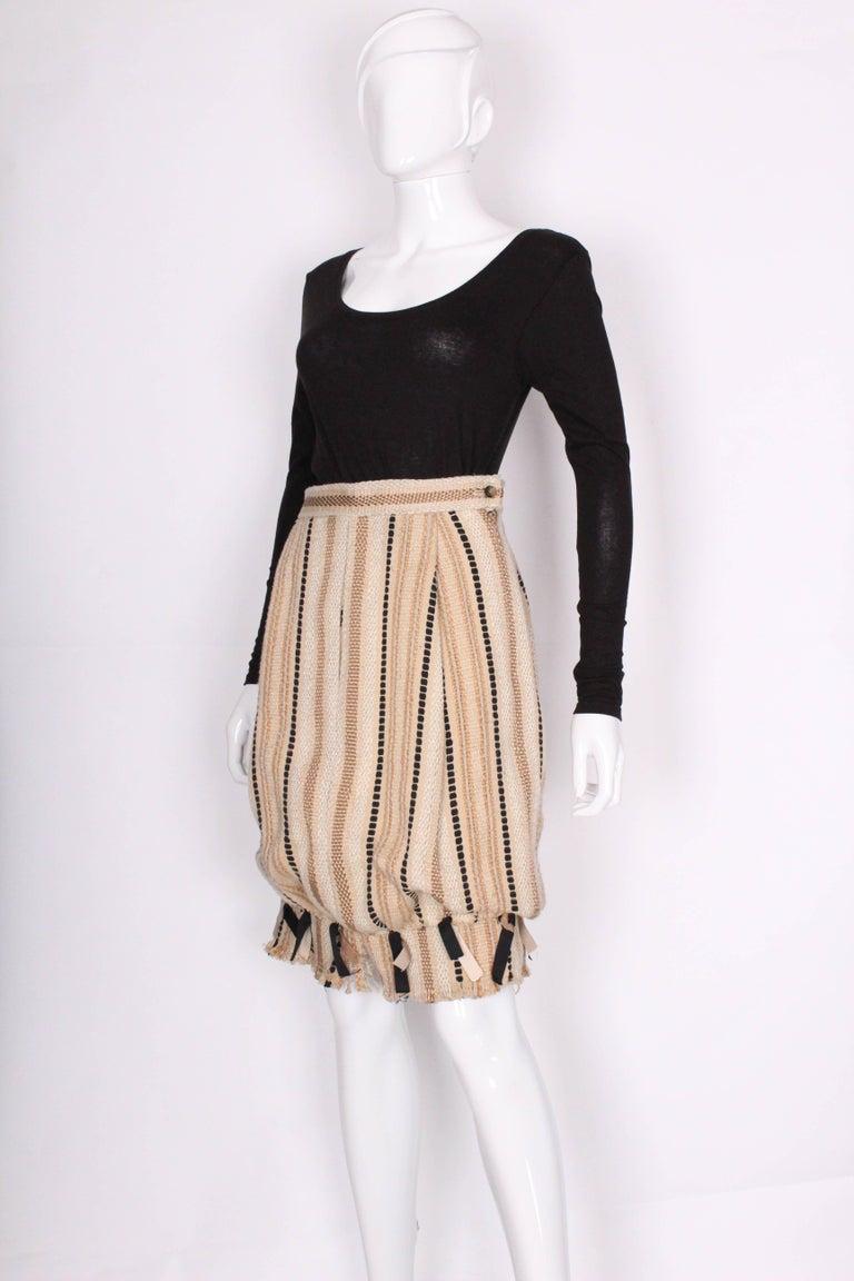 Beige A 2000 Yves Saint Laurent Rive Gauche Bubble Skirt For Sale