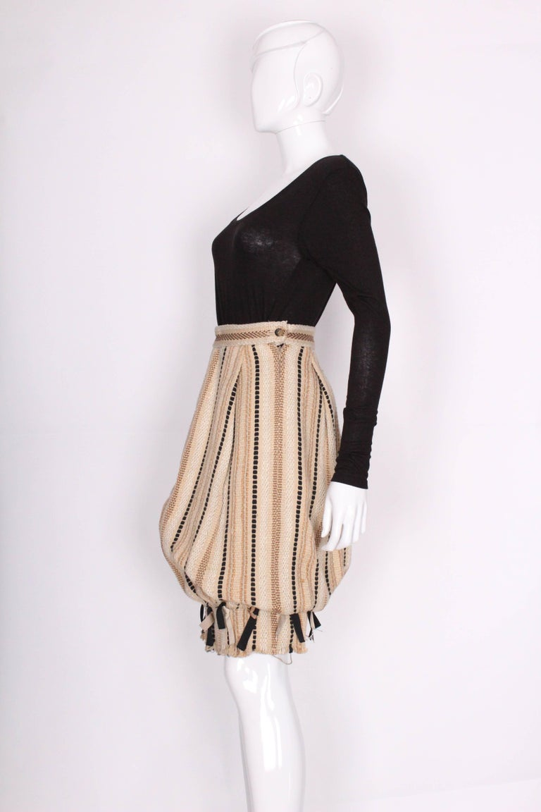 A 2000 Yves Saint Laurent Rive Gauche Bubble Skirt In Excellent Condition For Sale In London, GB