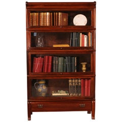 5 Trier Stacking Bookcase in Mahogany of 4 Elements-Globe Wernicke