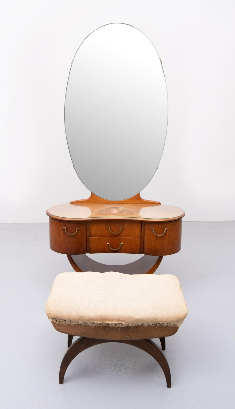 A A Patijn Curved Dressing Table, 1950s, Holland For Sale 3