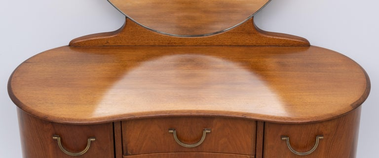 A A Patijn Curved Dressing Table, 1950s, Holland For Sale 1