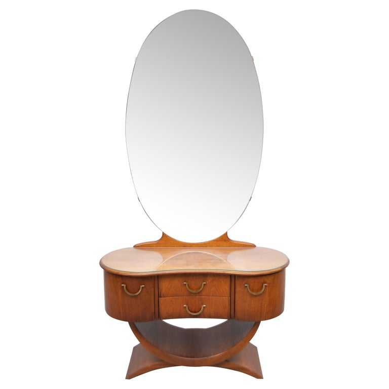 A A Patijn Curved Dressing Table, 1950s, Holland For Sale