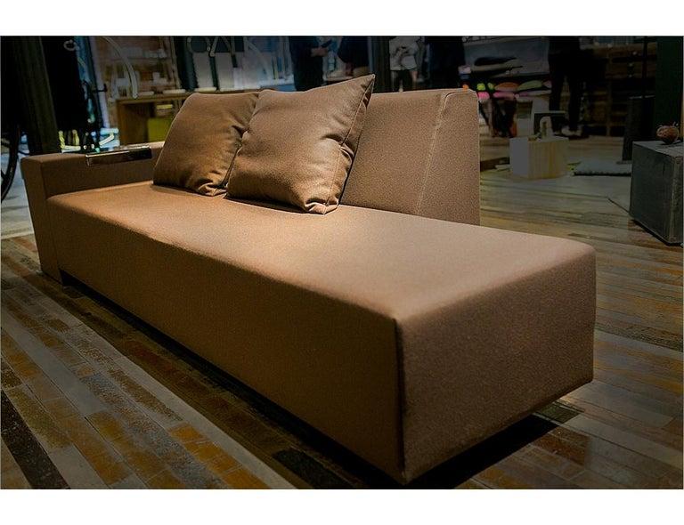 Modern A. Anakis Sidigi Sofa in Green Wool by Domeau & Pérès For Sale