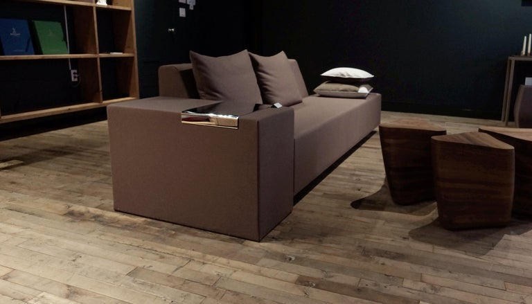 A. Anakis Sidigi Sofa in Green Wool by Domeau & Pérès In New Condition For Sale In New York, NY