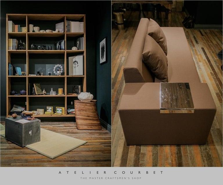 A. Anakis Sidigi Sofa in Green Wool by Domeau & Pérès For Sale 1