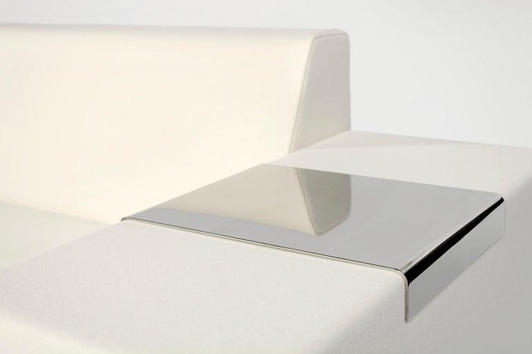 Modern A. Anakis Sidigi Sofa in Ivory Wool by Domeau & Pérès For Sale
