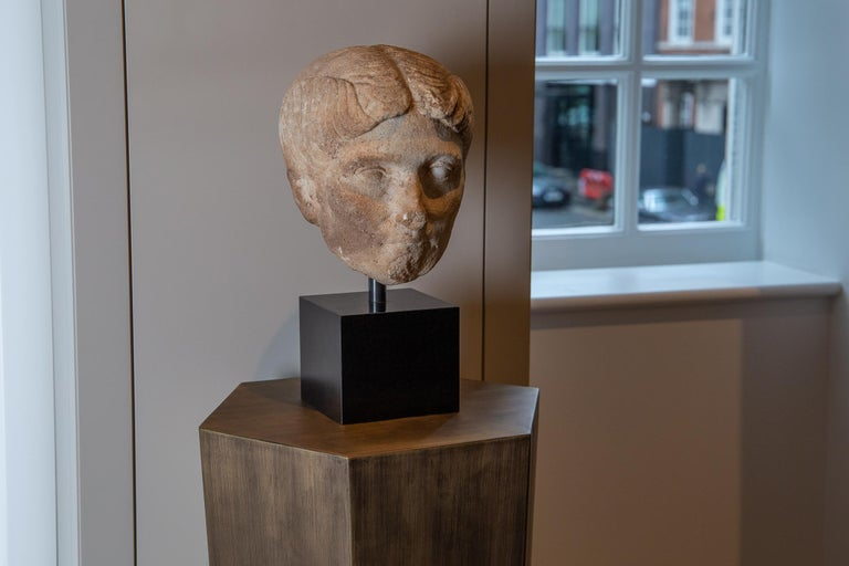 Ancient Roman Marble Bust of a Woman, 1st Century BC-1st century AD In Good Condition For Sale In London, GB