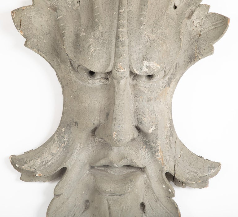 1890s Architectural Element in the Form of a Face For Sale