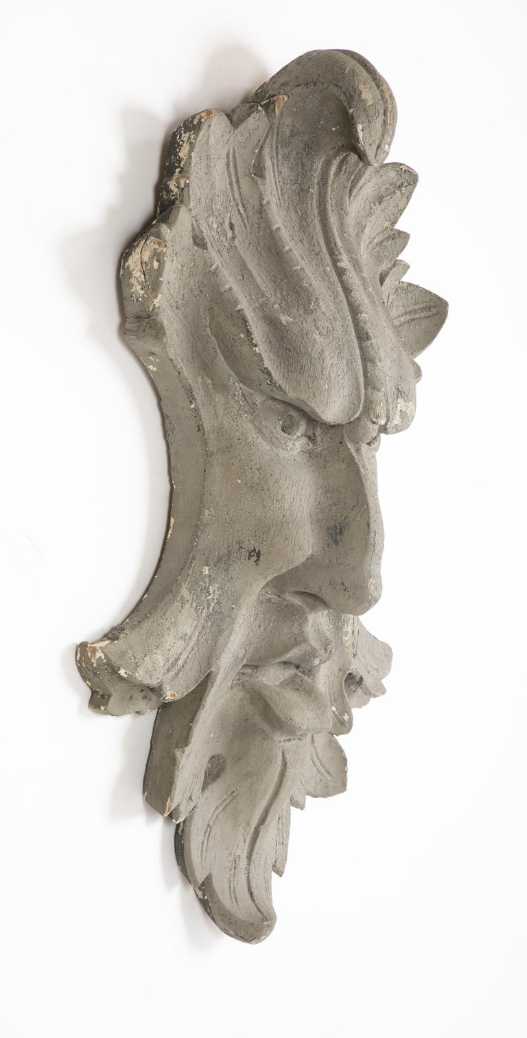 Architectural Element in the Form of a Face For Sale 1