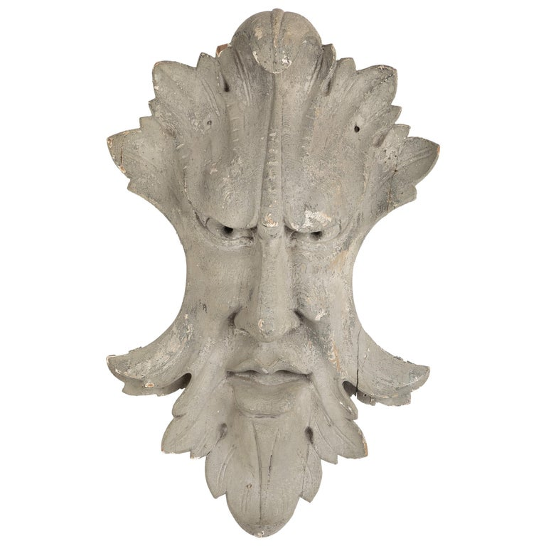 Architectural Element in the Form of a Face For Sale