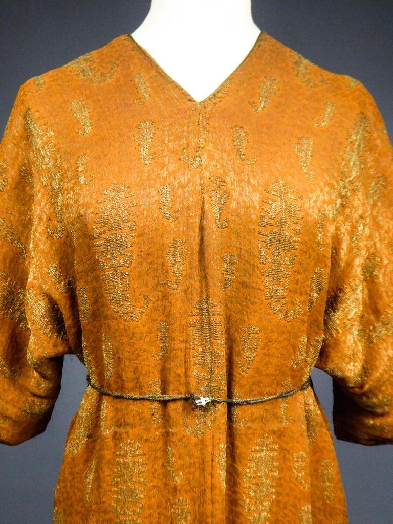 Brown A Babani Kimono Dress (Attributed To) Circa 1920 For Sale