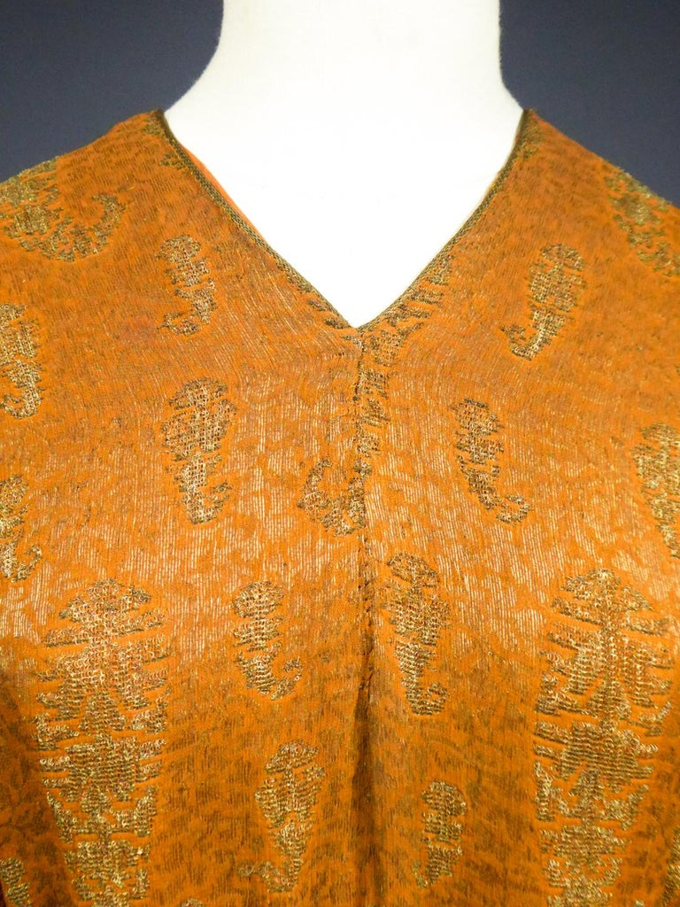 A Babani Kimono Dress (Attributed To) Circa 1920 In Good Condition For Sale In Toulon, FR