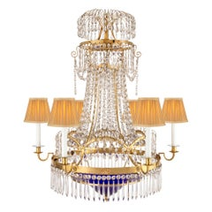 Baltic 18th Century Neoclassical St. Ormolu, Crystal and Chandelier