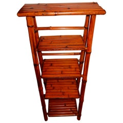 Bamboo  vintage British Colonial Artisan decorative display  stand or ladder.