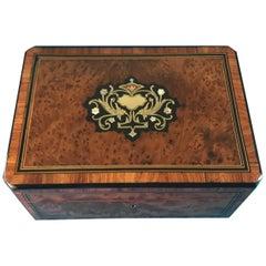 Beautiful 19th Century 1870 French Burr Cedar Box